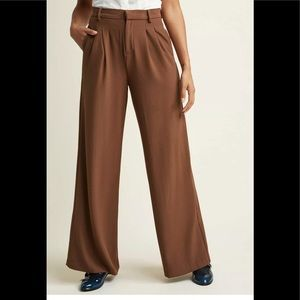Modcloths pleated wide leg trousers